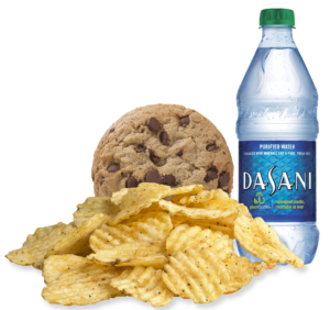 Which Wich cookie, water bottle and chips