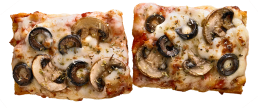 Mushroom and Olive Pizzawich