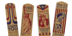 Four Flag Your Bag Drawings | Which Wich